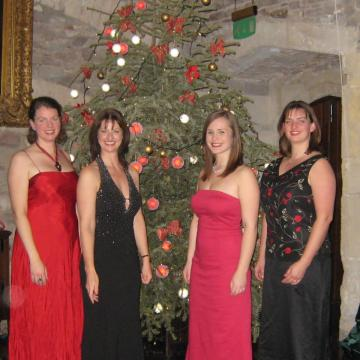 Lyrica Christmas Quartet performing at Thornbury Castle